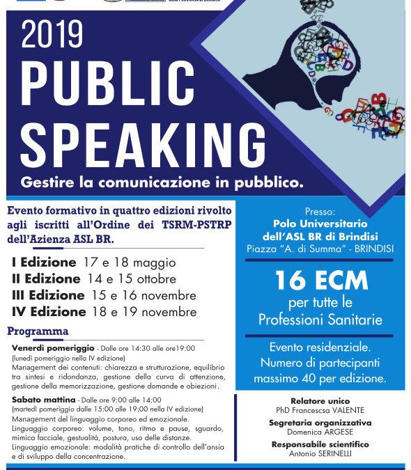 Public speaking: gestire la comunicazione in pubblico