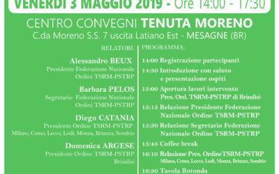 L'ORDINE TSRM-PSTRP DI BRINDISI INCONTRA LE 19 PROFESSIONI SANITARIE, LE AMR E I PROFESSIONISTI